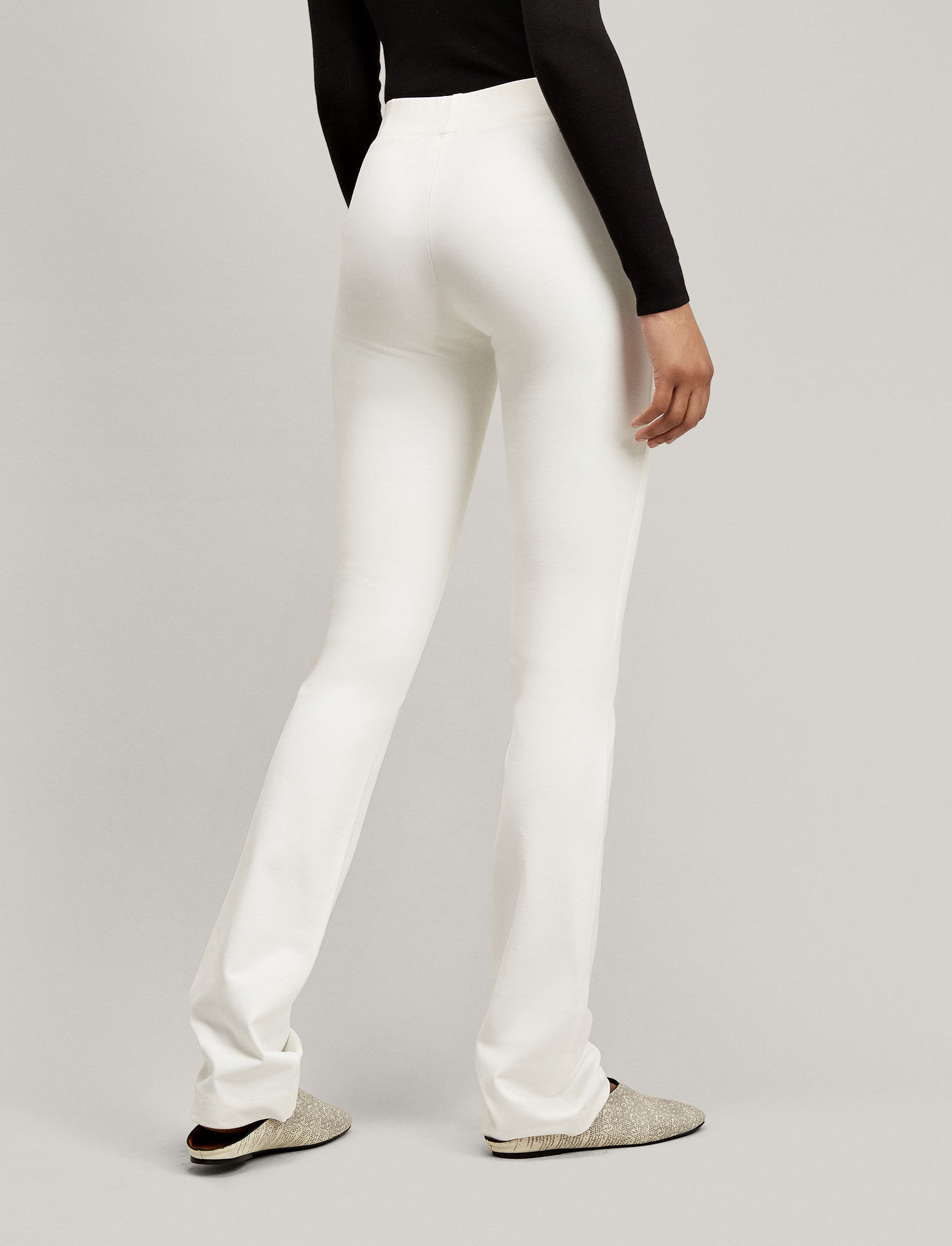 Joseph, Pantalon Lex en gabardine stretch, in OFF WHITE