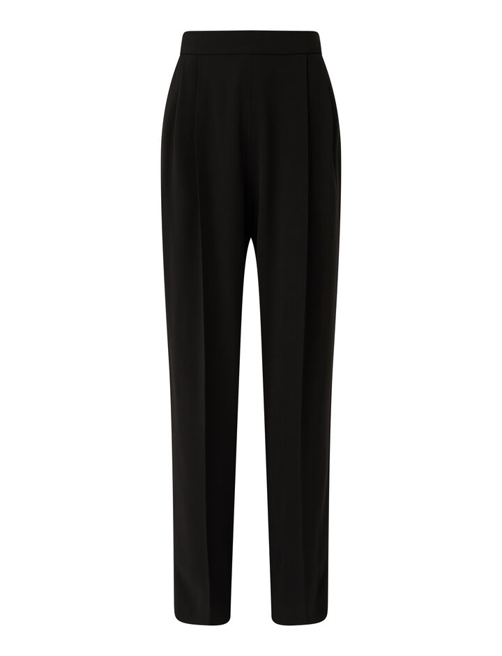 Joseph, Crepe Satin Thea Trousers, in BLACK