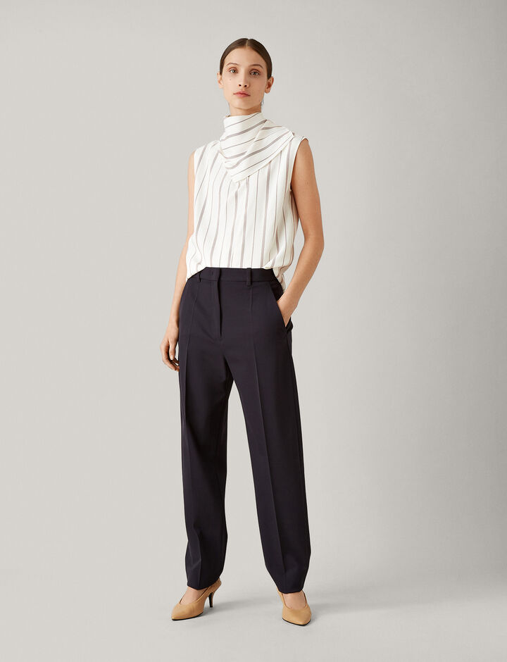 Joseph, Electra Comfort Wool Trousers, in NAVY