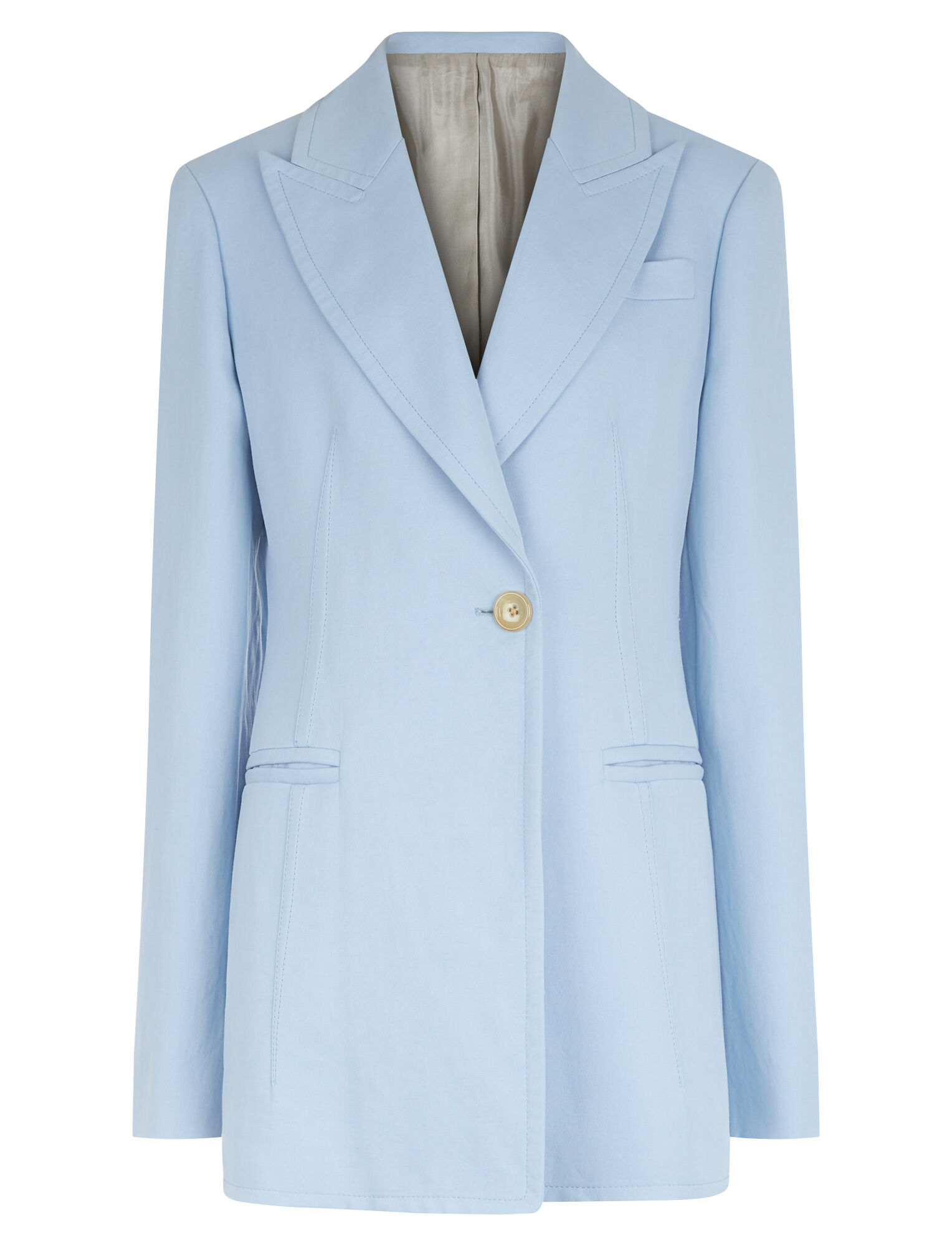 Joseph, Hampson Ramie Cotton Jacket, in PERIWINKLE