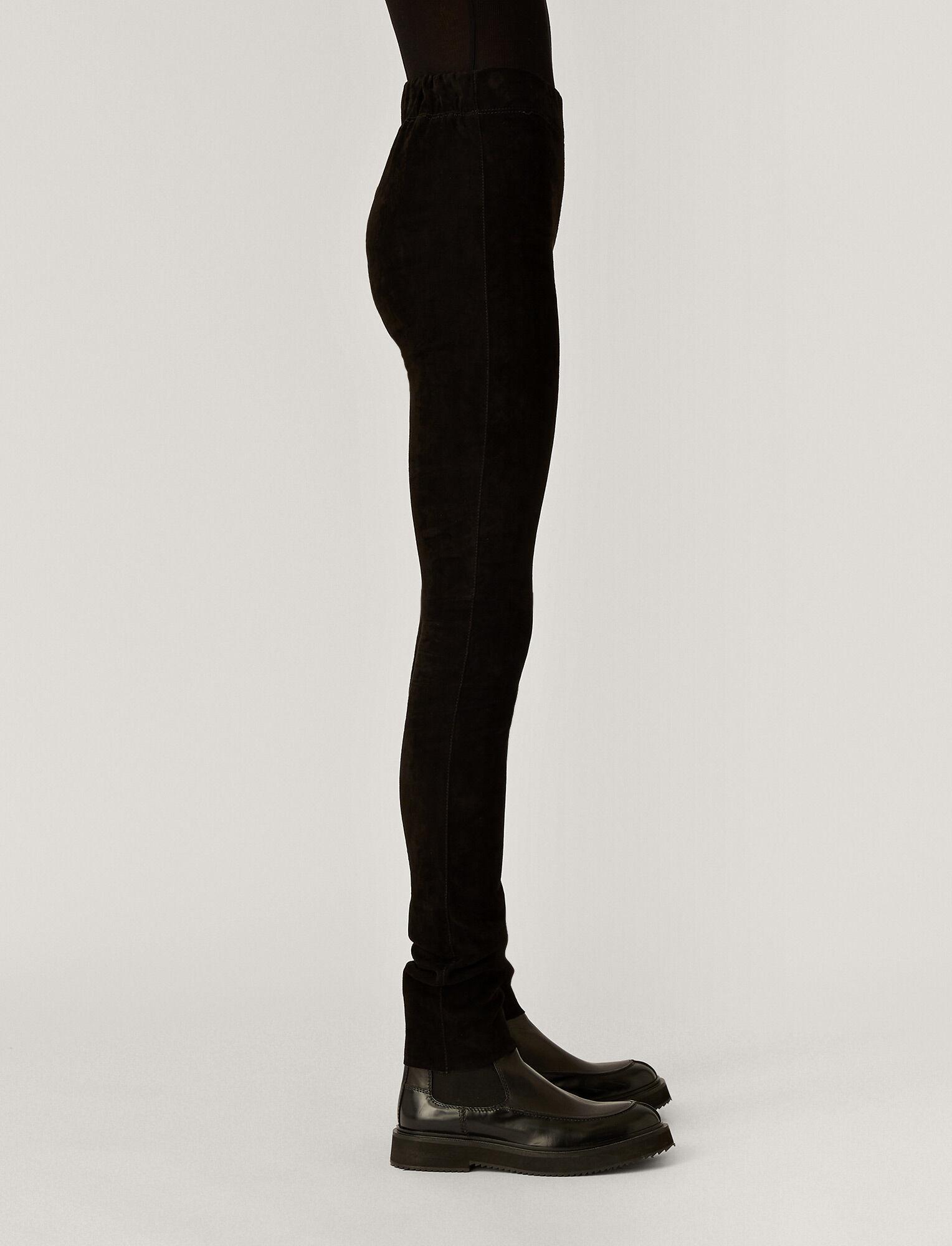 Joseph, Legging en cuir stretch, in BLACK