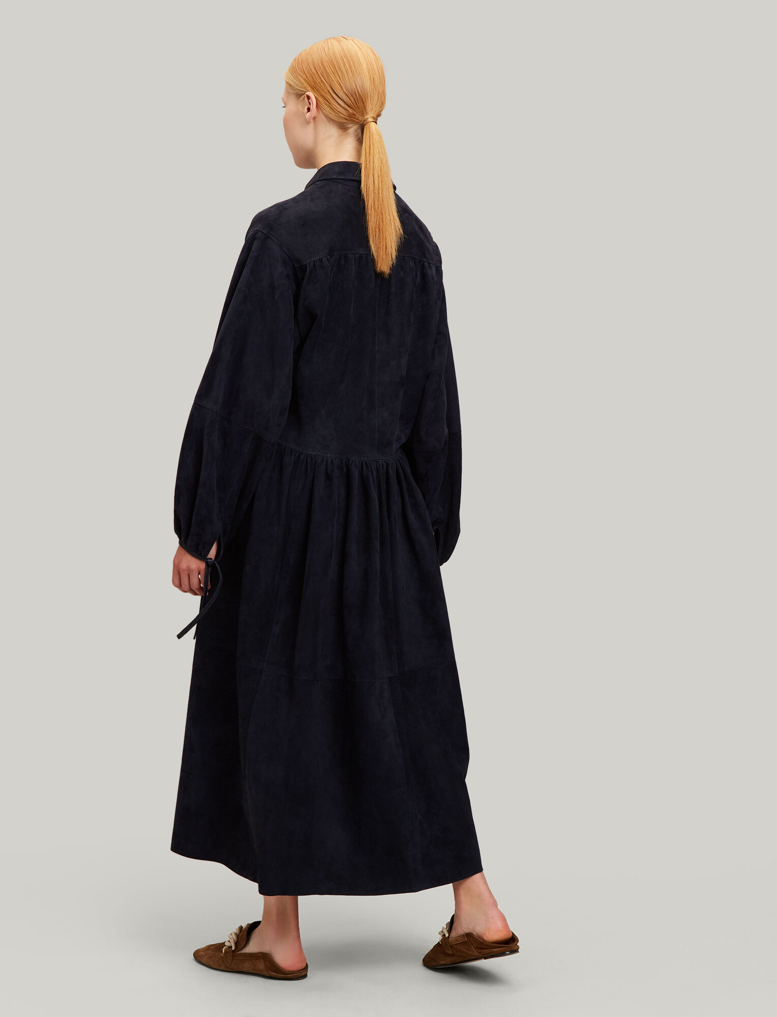 Joseph, Claudia Suede Leather Dress, in NAVY