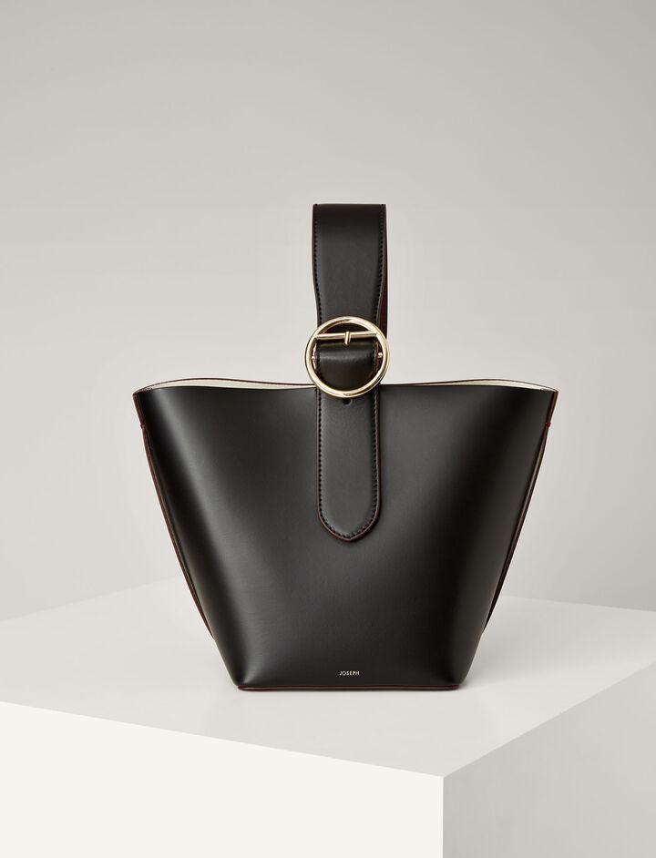 Joseph, Leather Sevres Bag, in BLACK
