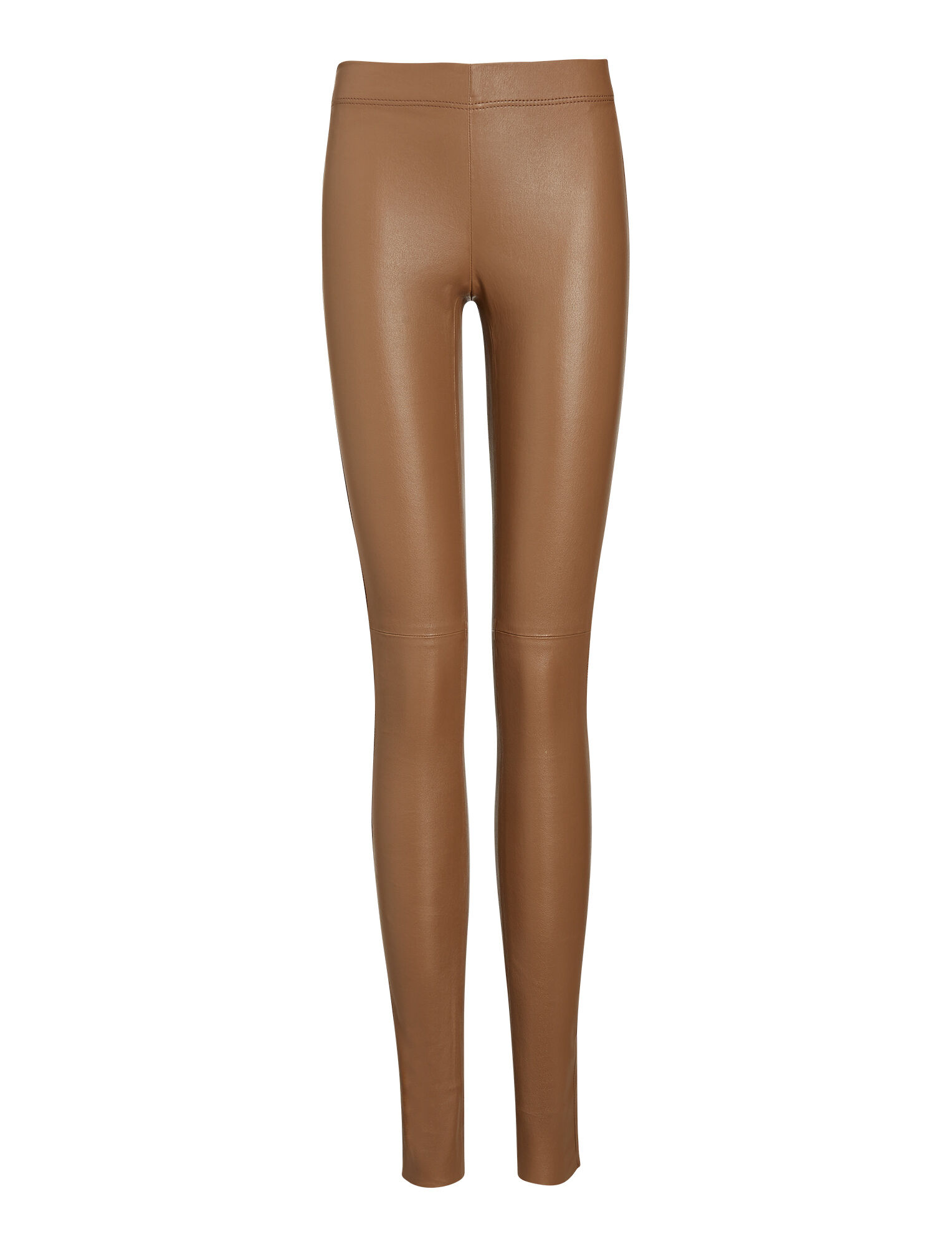 Joseph, Legging en cuir stretch, in TOBACCO
