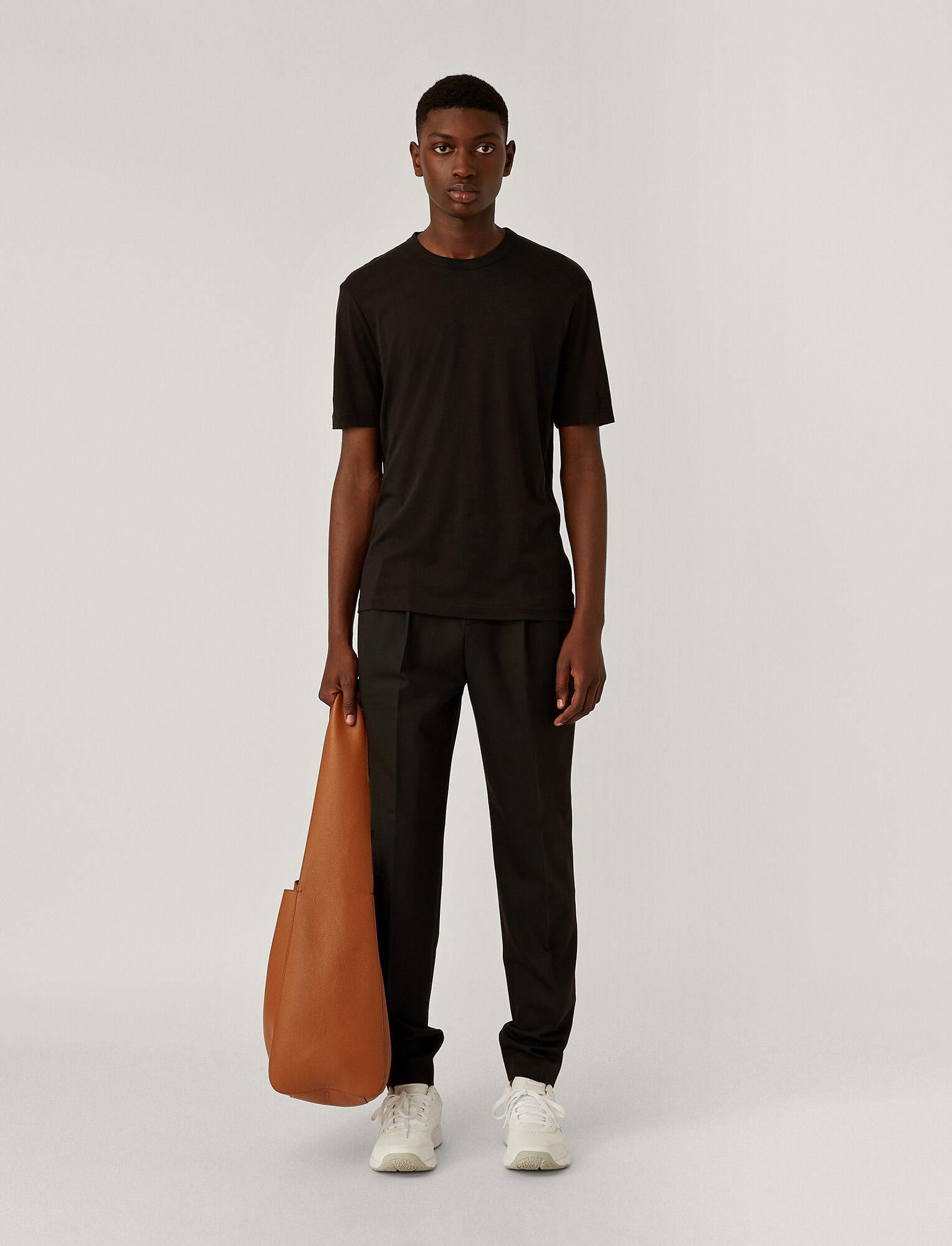 Joseph, Tee-shirt en jersey de lyocell, in BLACK