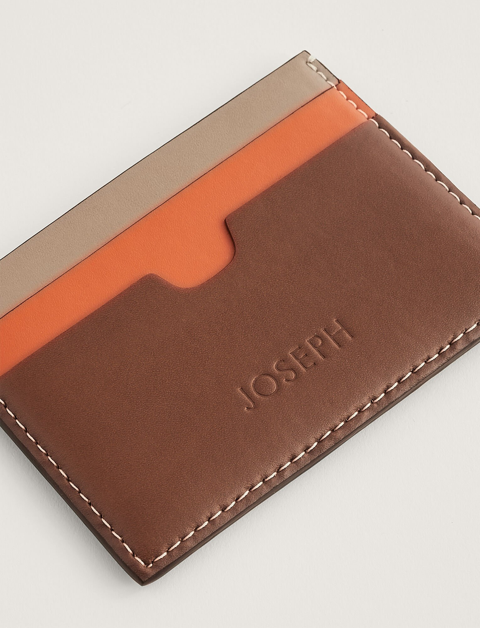 Joseph, Porte-cartes, in MIX 3 MINK/ORANGE/TAN