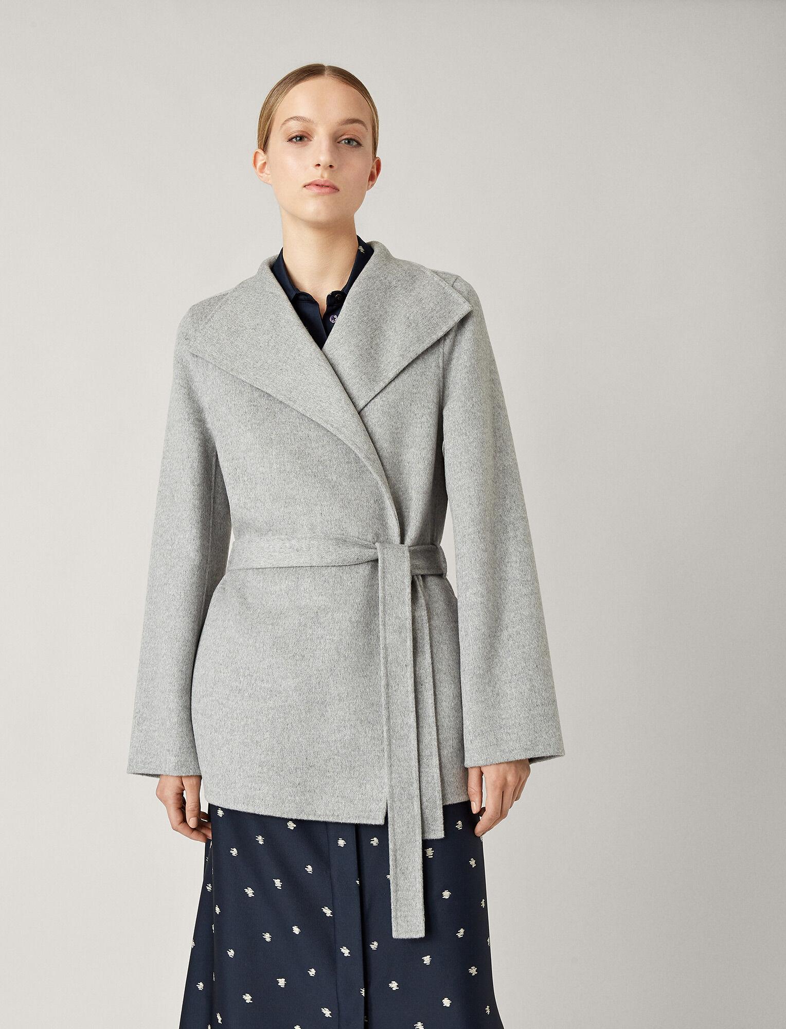 Joseph, Lima Short Double Face Cashmere Coat, in GREY