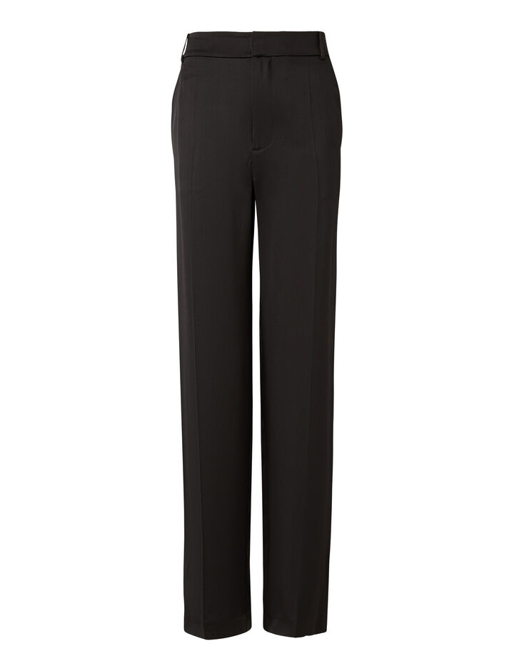 Joseph, Jack Silk Satin Trousers, in BLACK