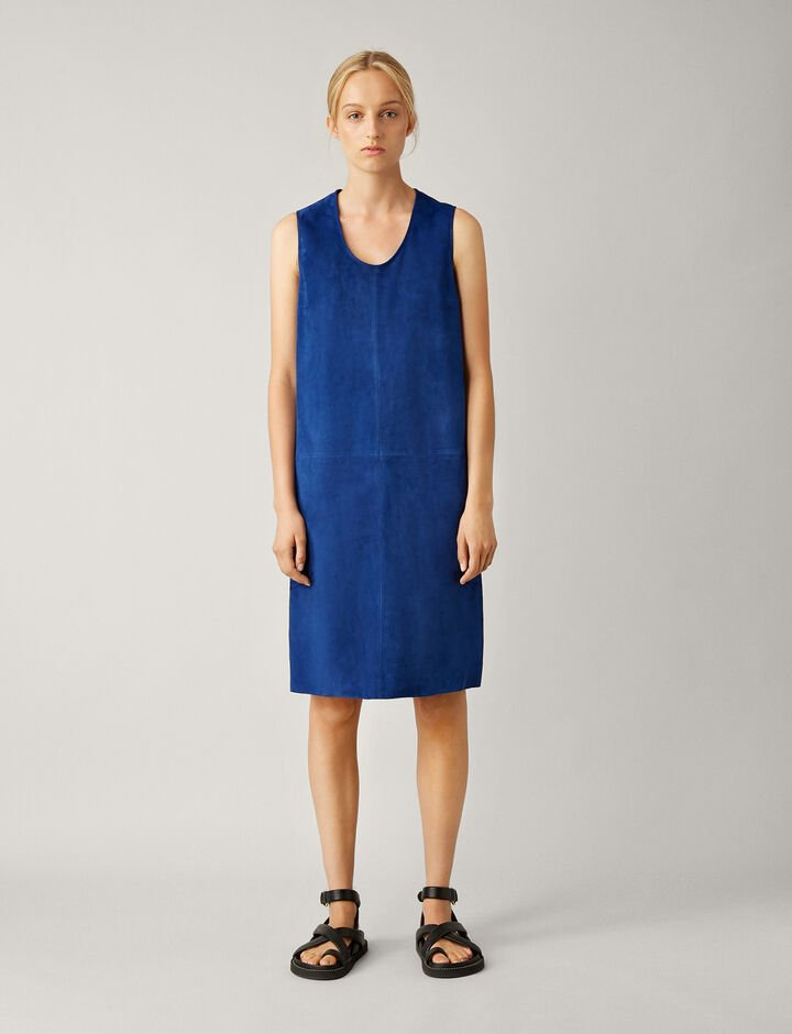 Joseph, Patty Suede Dress, in KLEIN