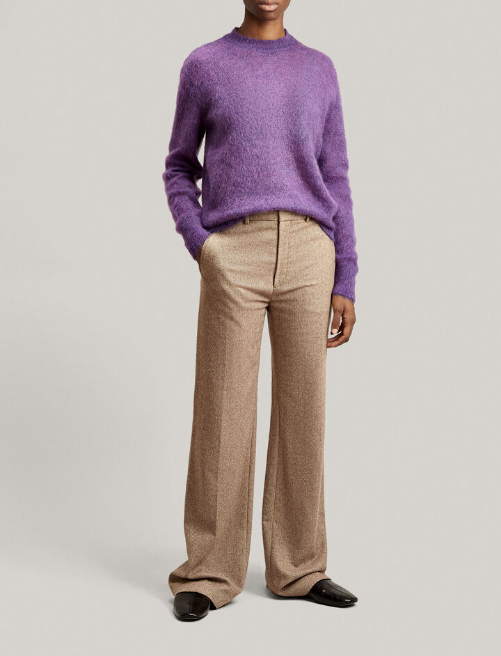 Joseph, Ferguson Herringbone Trousers, in CAMEL