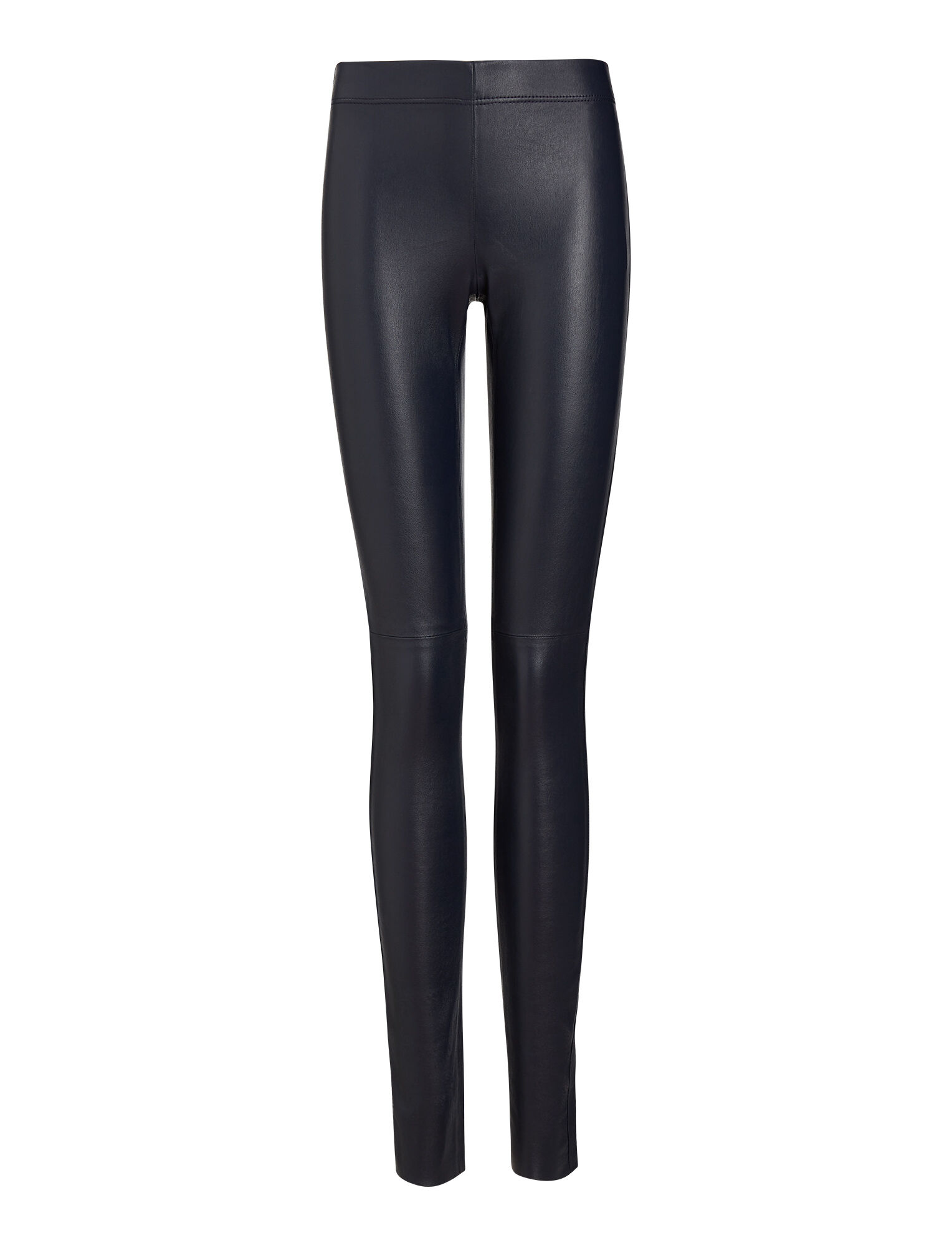 Joseph, Legging en cuir stretch, in NAVY