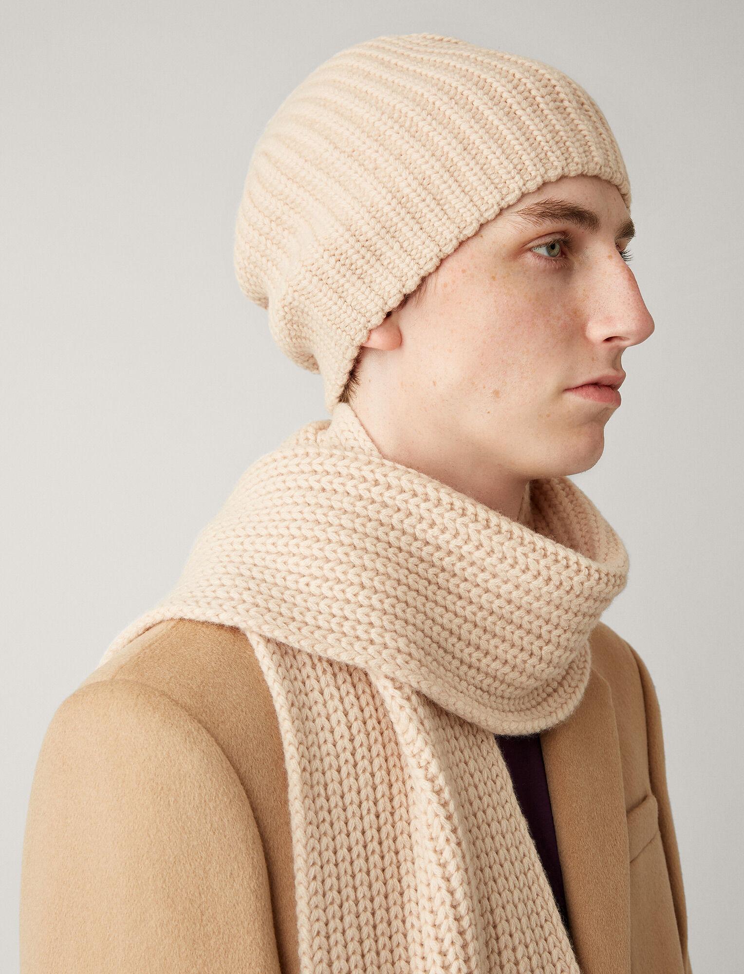 Joseph, Hat Soft Wool Knit, in LATTE