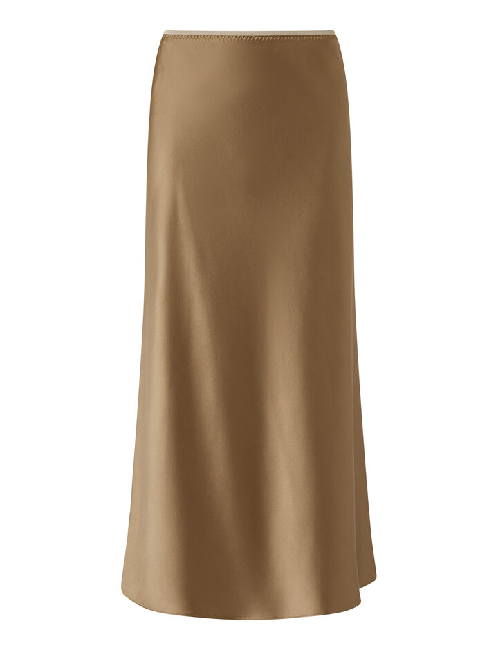 Joseph, Isaak Silk Satin Skirts, in Taupe