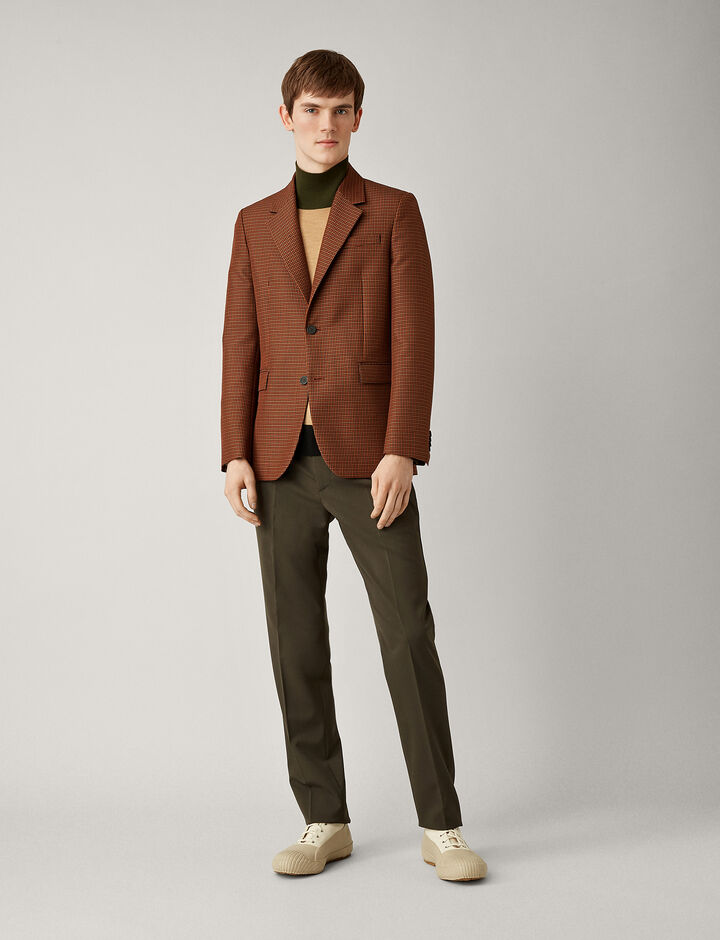 Joseph, Cattiau Dogtooth Color Jacket, in AMBER