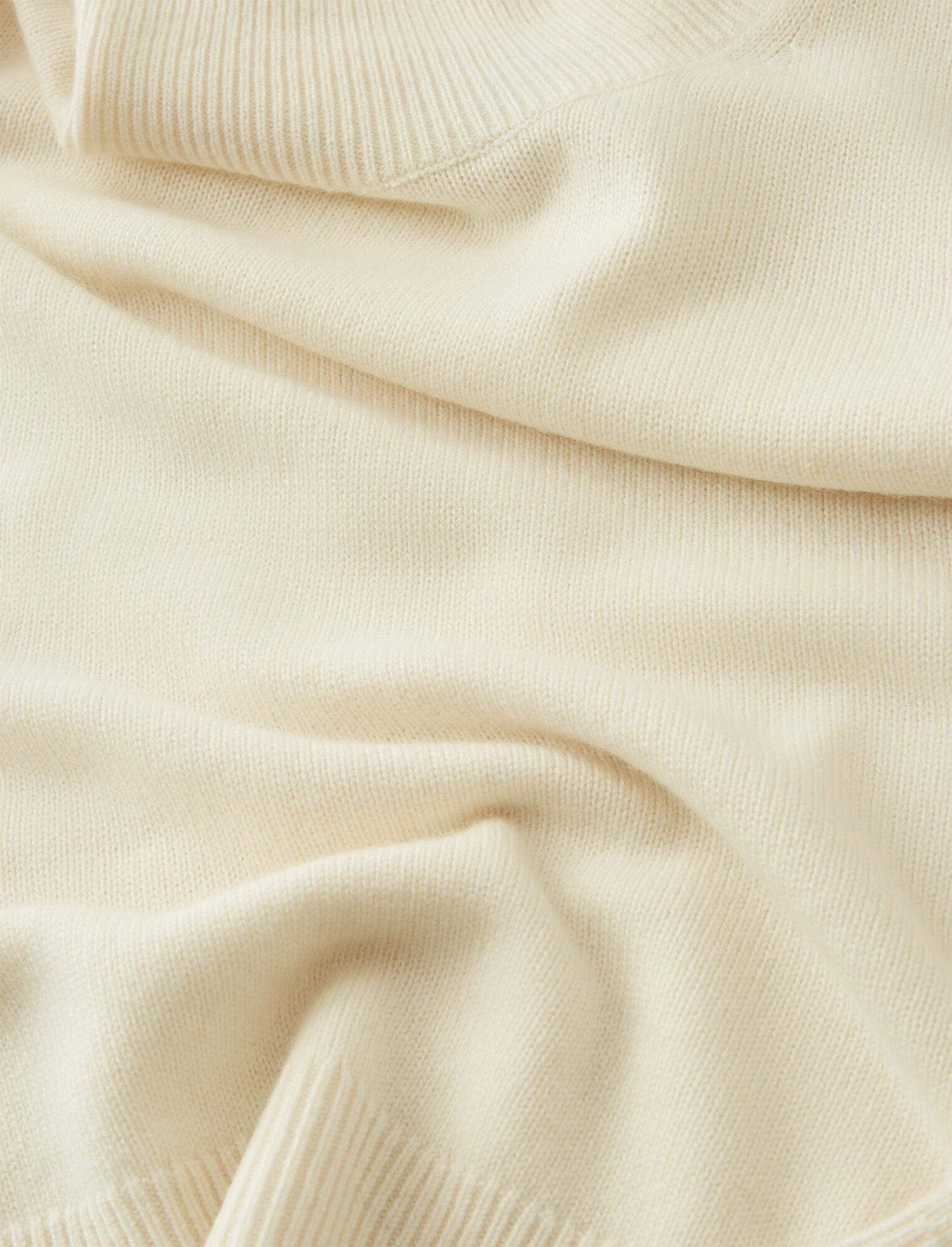 Joseph, High Neck Pure Cashmere Knit, in CREAM