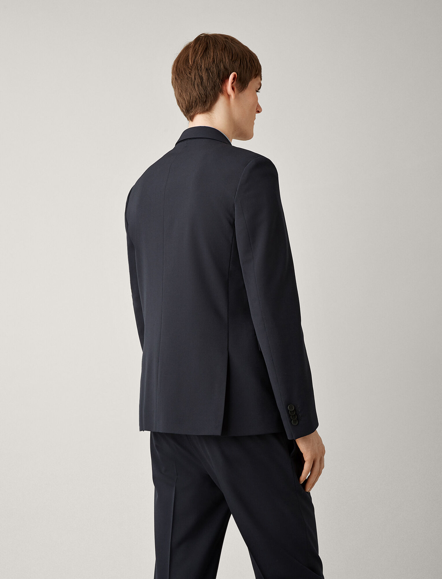 Joseph, Cannes Techno Wool Stretch Jacket, in NAVY