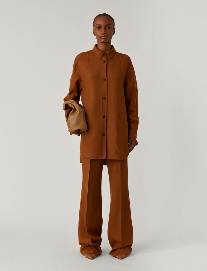 Joseph, Judi Stretch Double Face Jackets, in Cognac