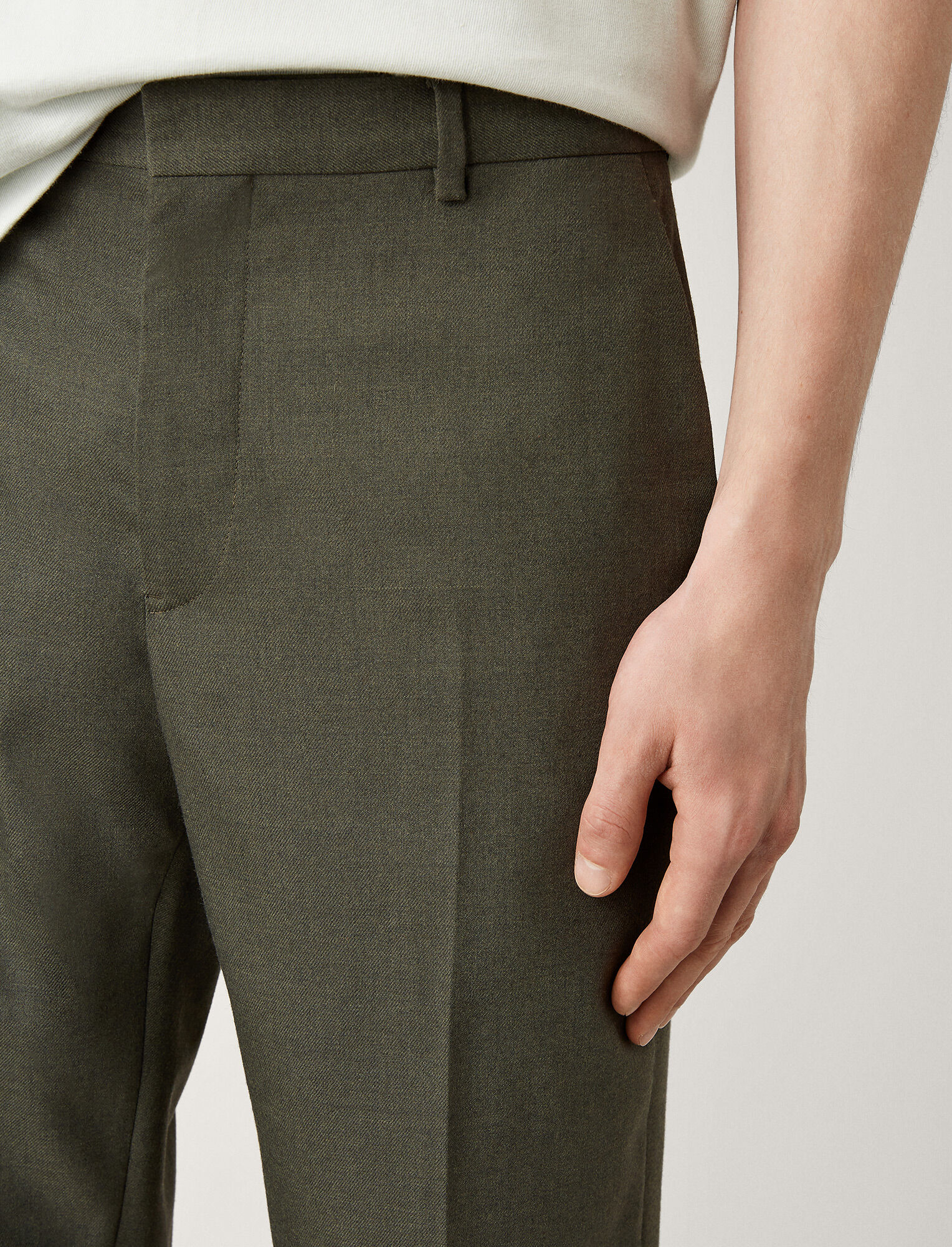 Joseph, Jack Flannel Stretch Trousers, in KHAKI