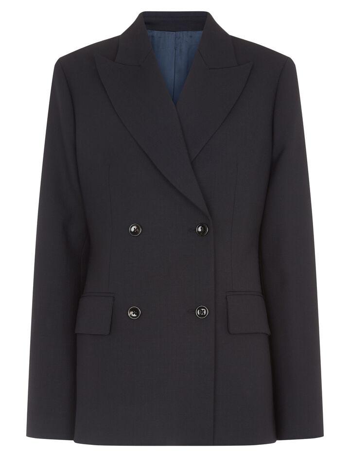Joseph, Hazel Comfort Wool Jacket, in NAVY