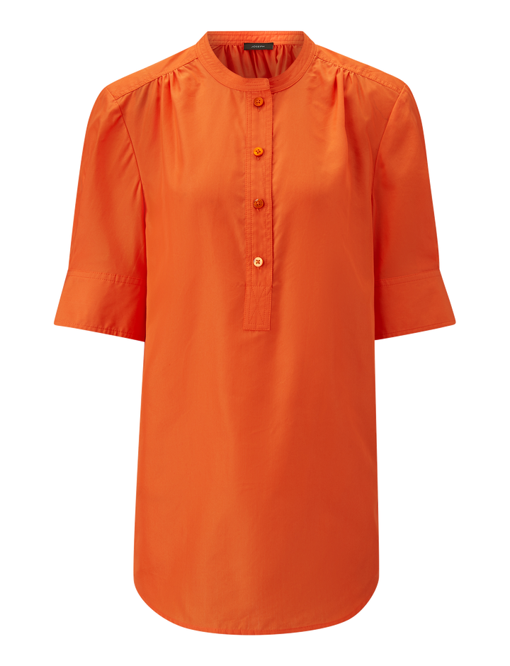 Joseph, Lennox Silk Cotton Poplin Blouse, in CARNELIAN