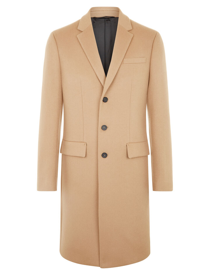 Joseph, London Double Wool Coat, in CAMEL