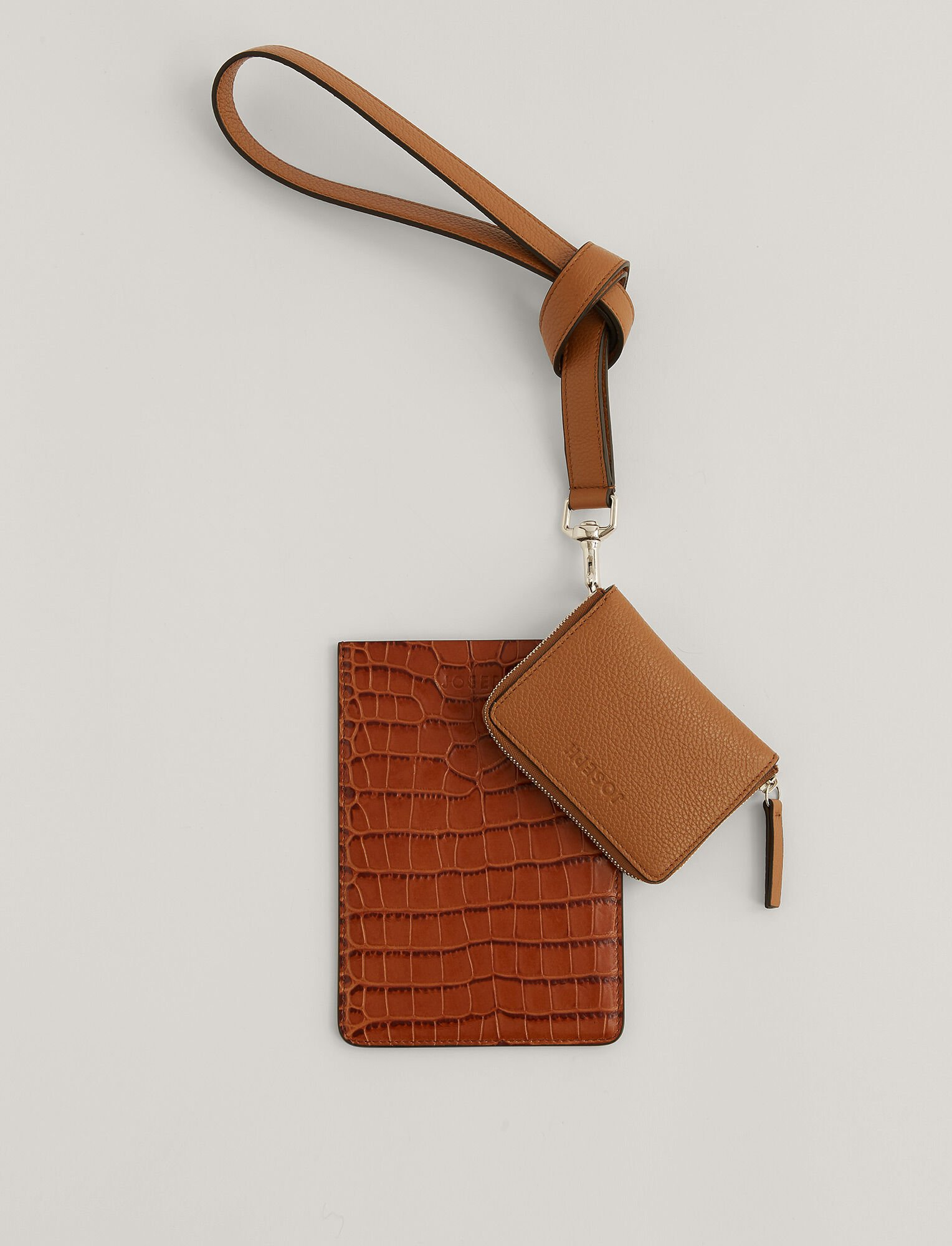 Joseph, Multi Pocket Leather Bag, in Cognac