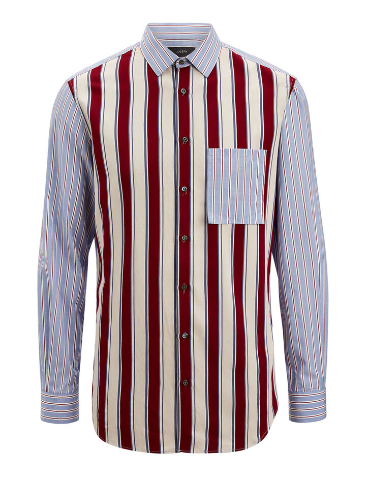 Joseph, Mary Colour Stripe Shirt, in BLUE/RED
