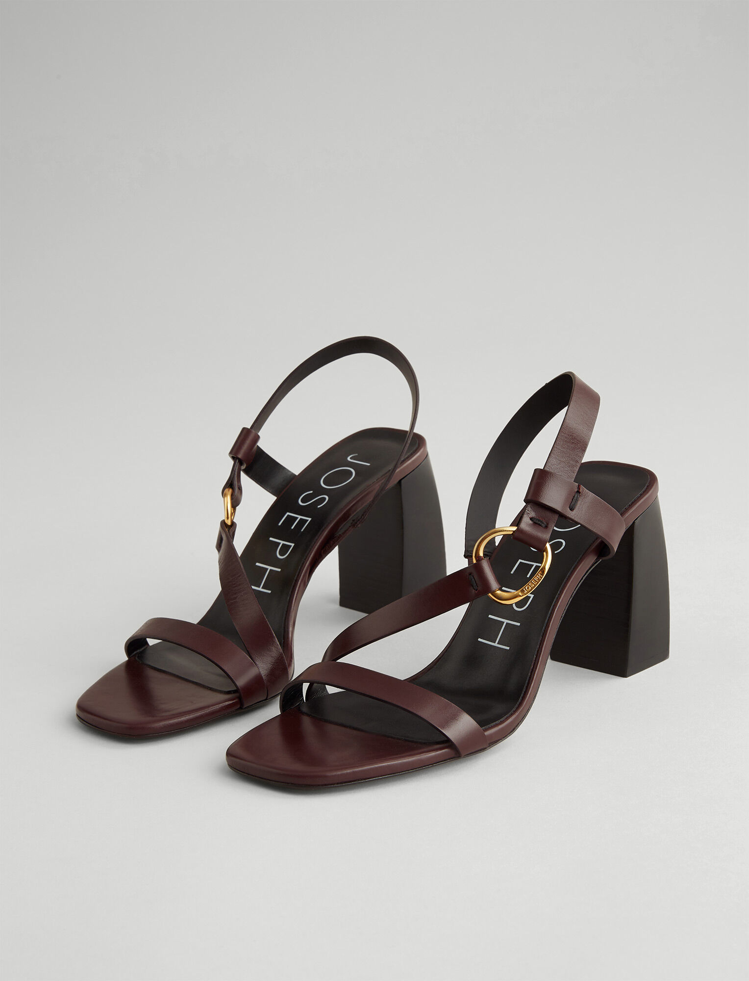 Joseph, Paloma Leather Sandal, in RAISIN
