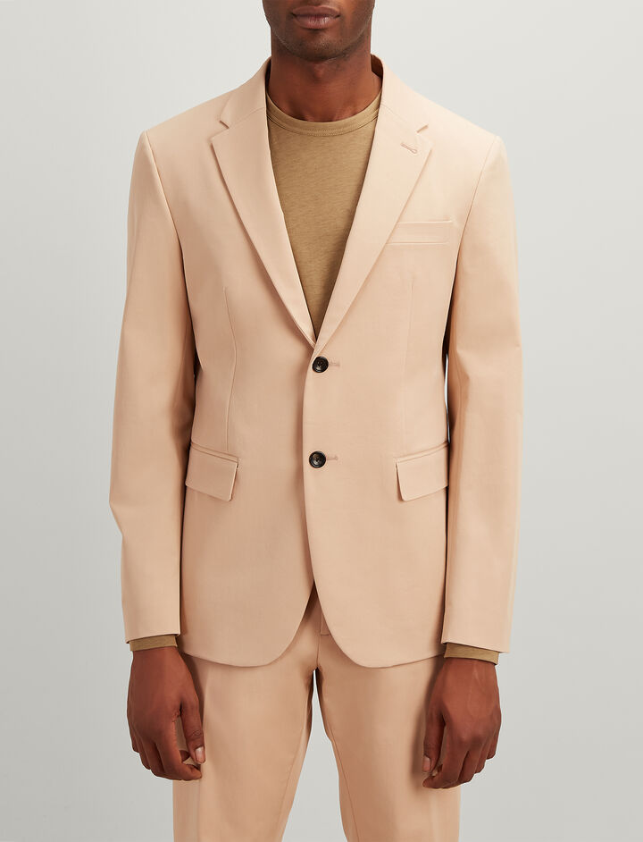 Joseph, Polish Cotton Stretch Hanford Jacket, in STUCCO