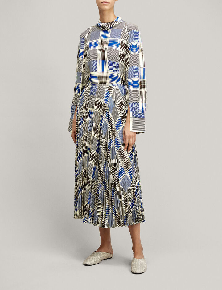 Joseph, Abbot Foulard Check Skirt, in MULTICOLOUR