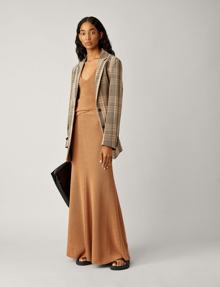 Joseph, Skirt-Cote Anglaise, in DUSTY ROSE