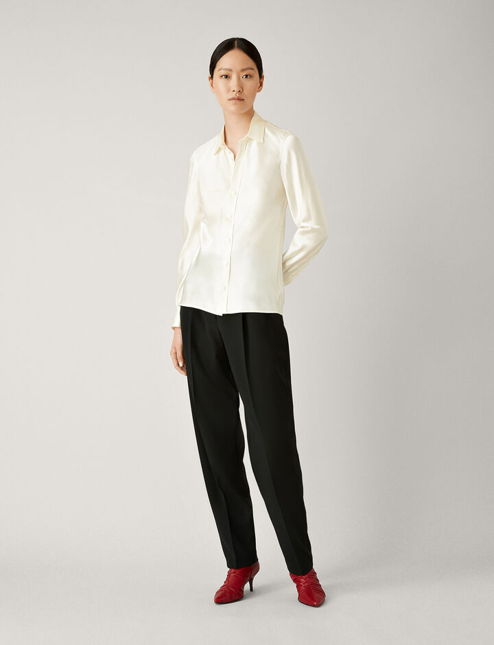 Joseph, George Silk Satin Blouse, in ECRU