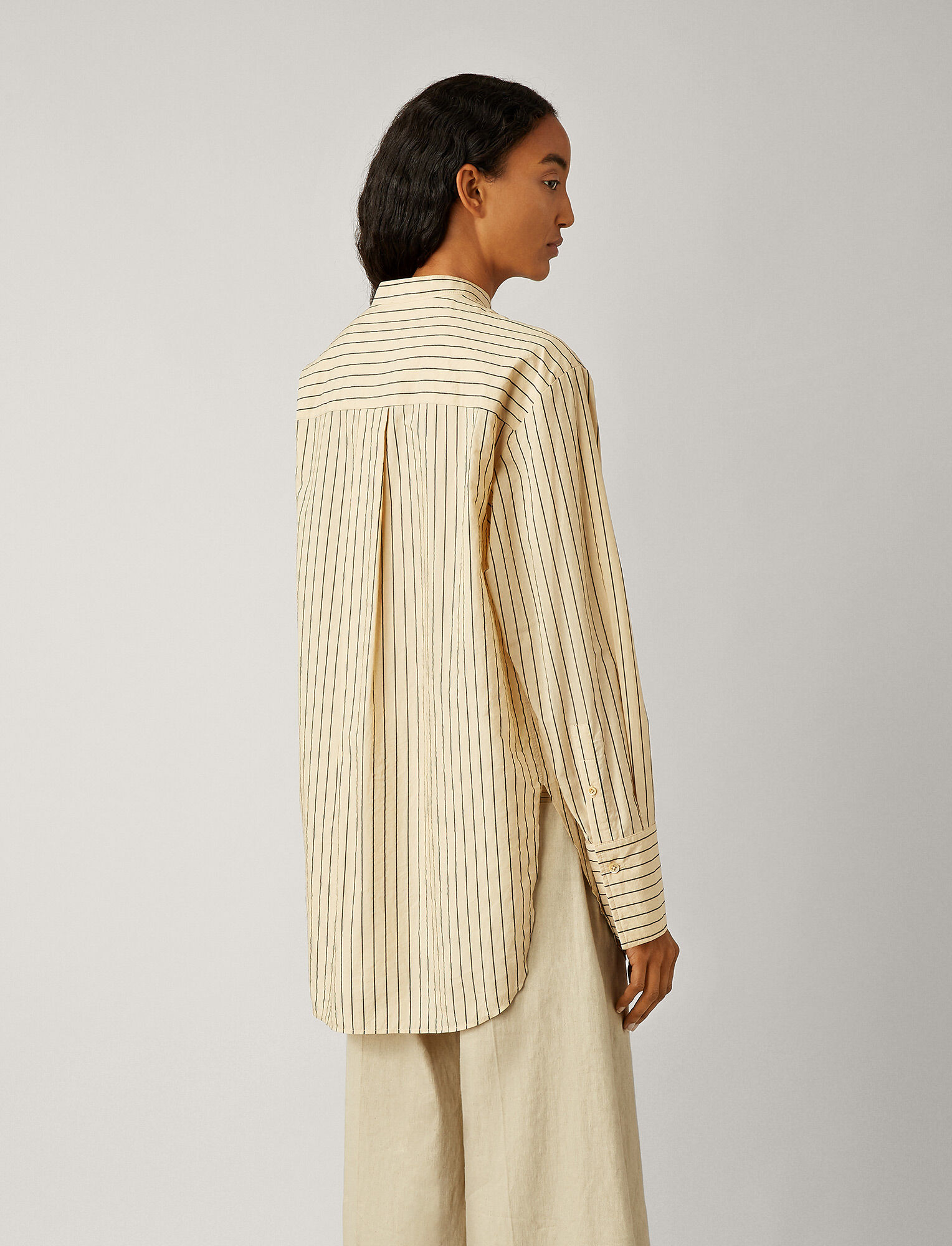 Joseph, Aufray Cotton Silk Stripe Blouse, in CHAI
