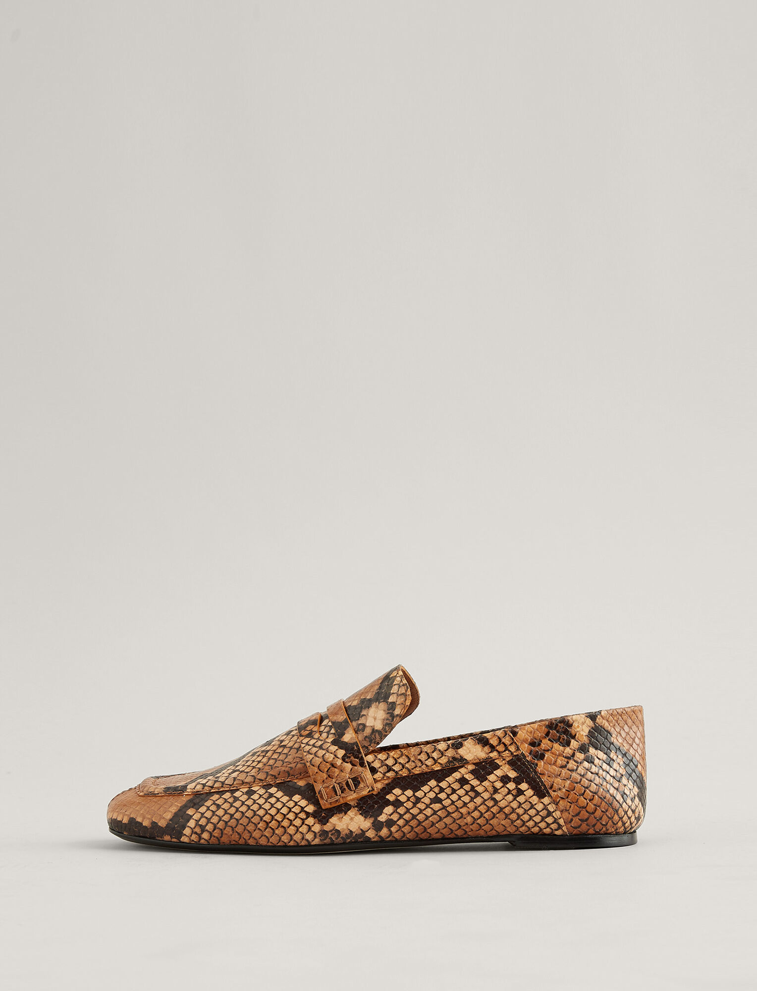 Joseph, Bakhta Leather Loafer, in CARAMEL/GREY