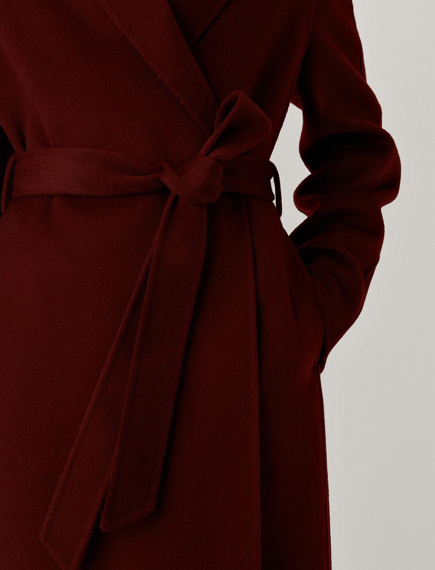 Joseph, Double Face Cashmere Cenda Long Coat, in BURGUNDY