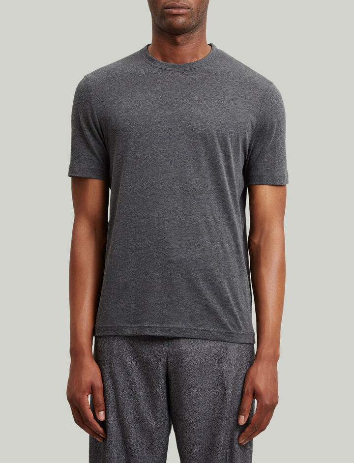 Joseph, Lyocell Jersey Tee, in CHARCOAL CHINE