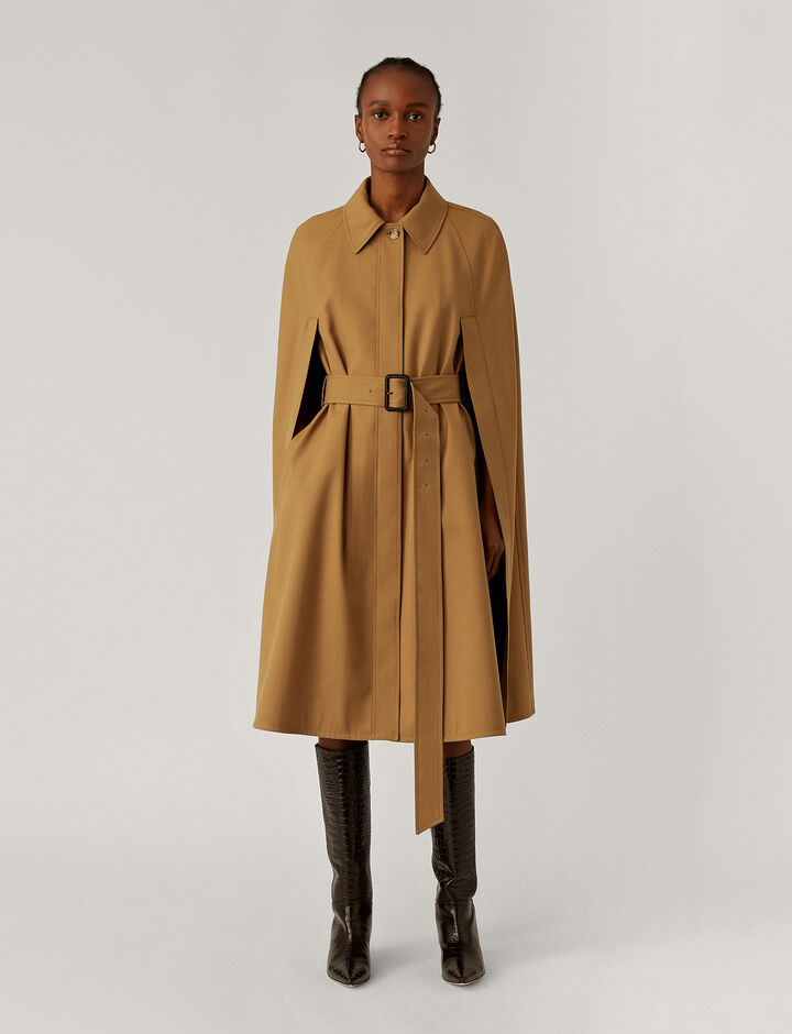 Joseph, Cotaï Water Repellant Wool Coats, in Saddle