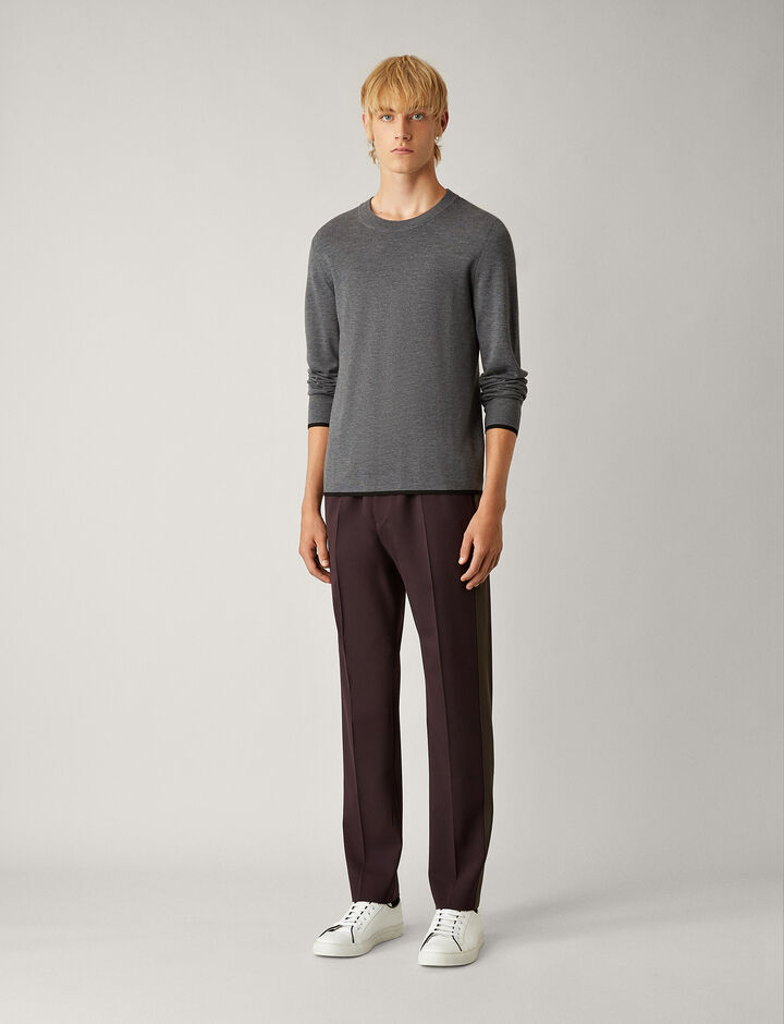 Joseph, Eza Techno Wool Stretch Trousers, in BURGUNDY