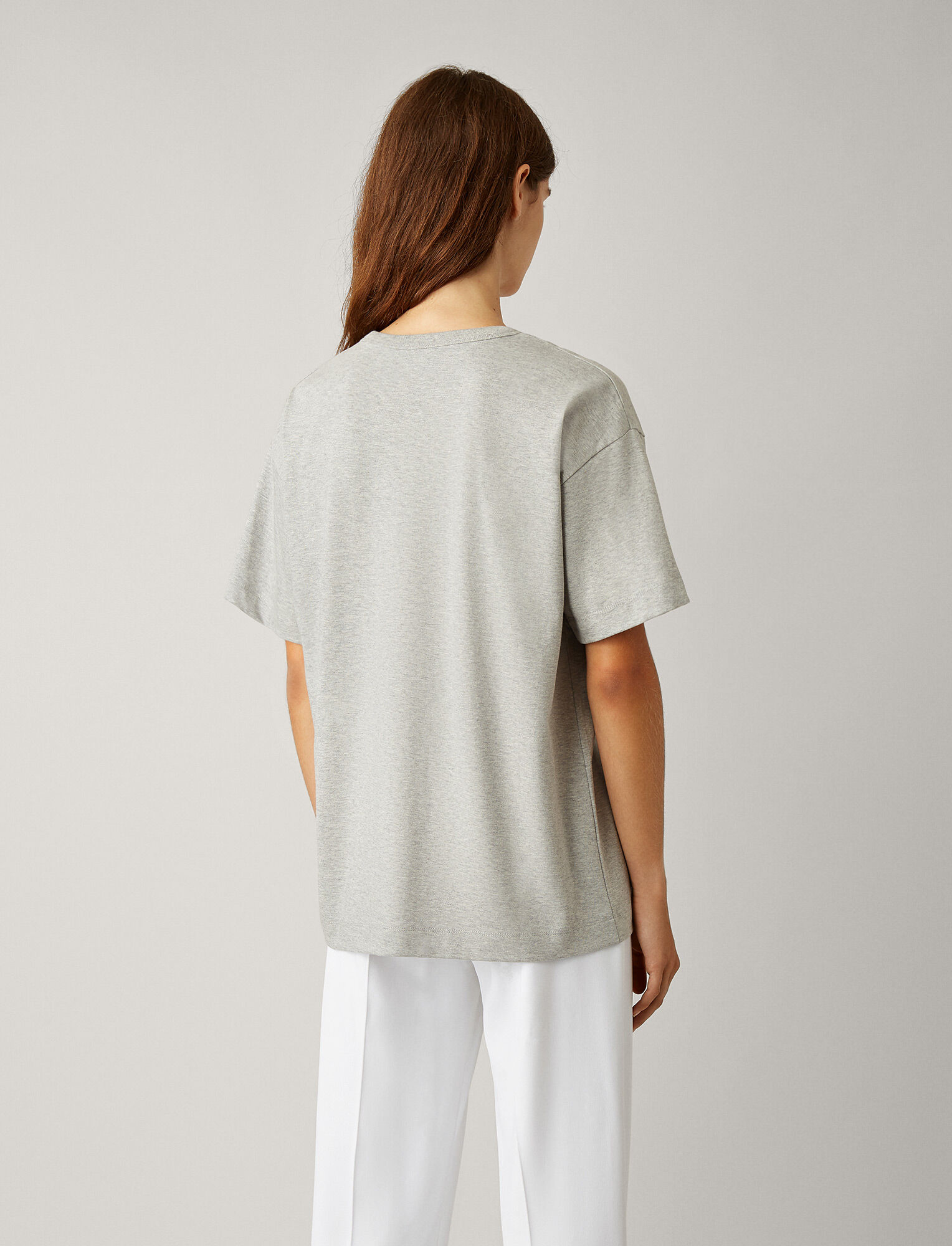 Joseph, Perfect Jersey Tee, in GREY CHINE