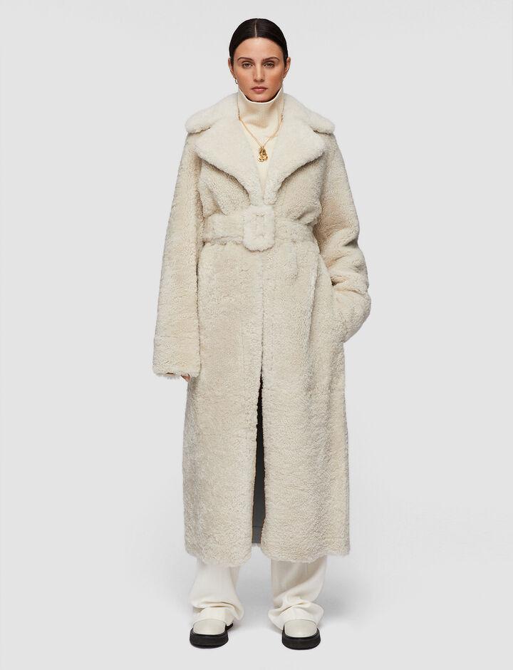 Joseph, Soft Merino Catrin Coat, in Ecru