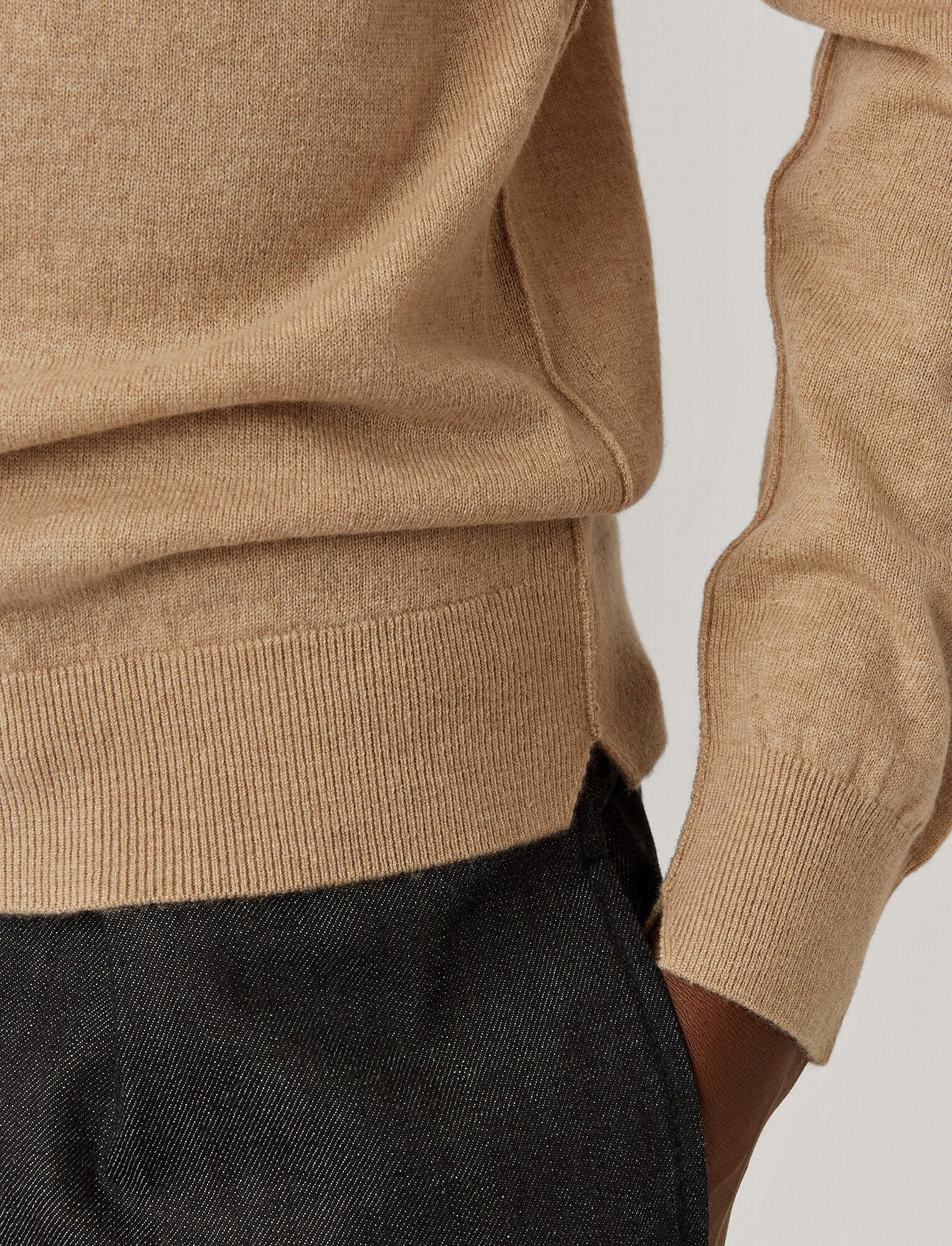 Joseph, Roll Neck Cashmere Knit, in Beige