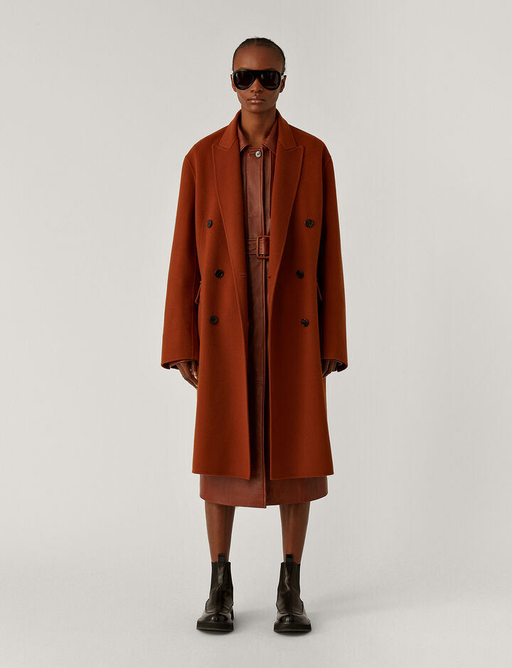 Joseph, Carles Dbl Face Cashmere Coats, in Fox