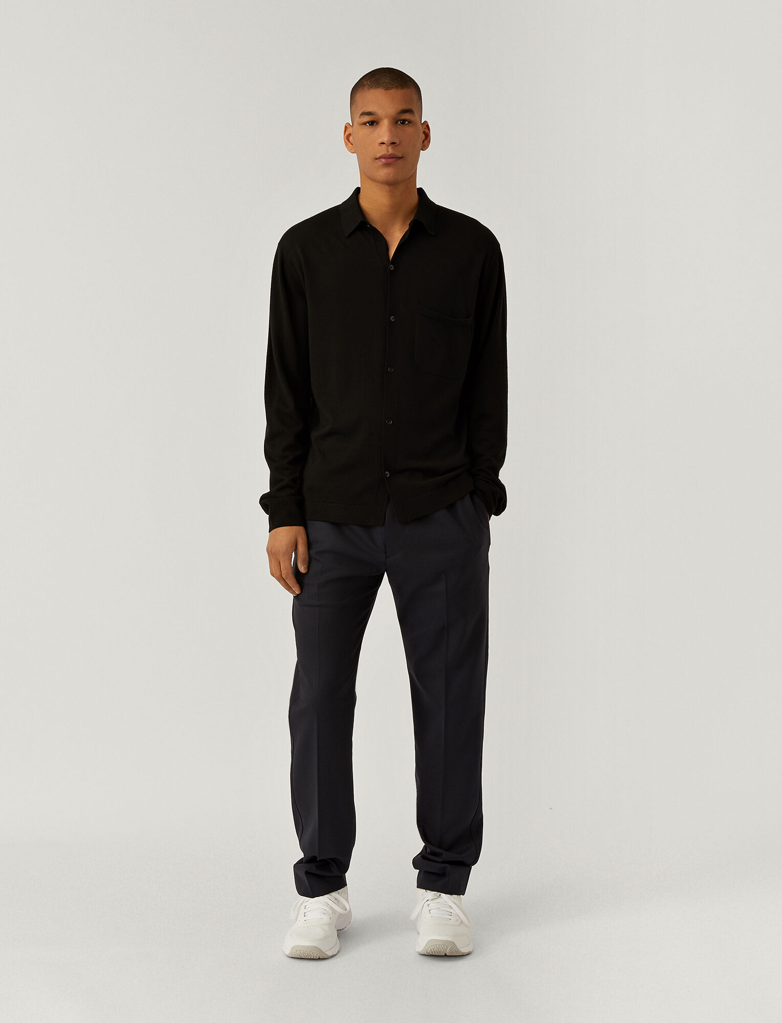 Joseph, Techno Wool Stretch Eza Trousers, in NAVY