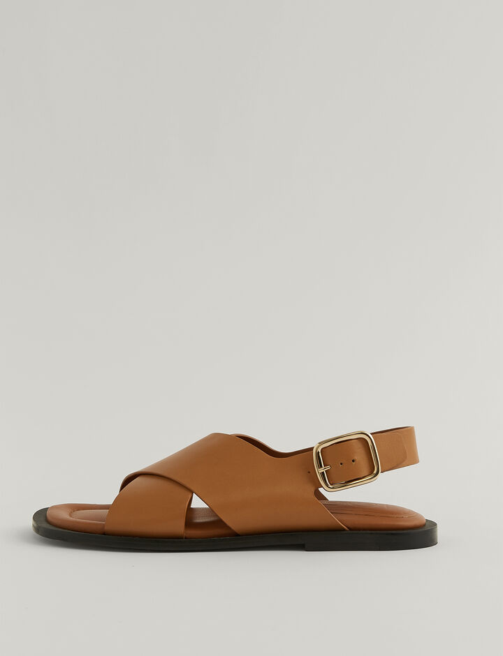 Joseph, Single Criss Cross Sandal, in OAK