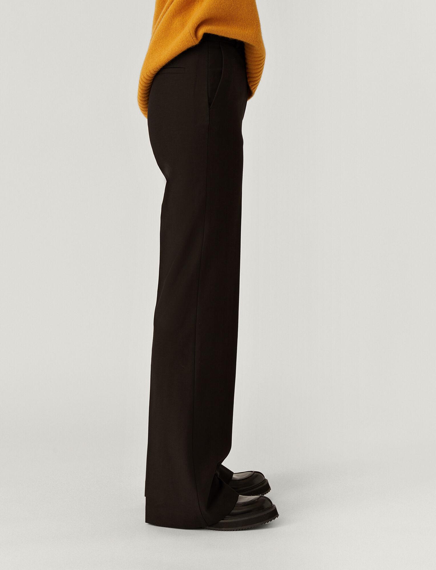 Joseph, Bi-Stretch Toile Richard Trousers, in BLACK