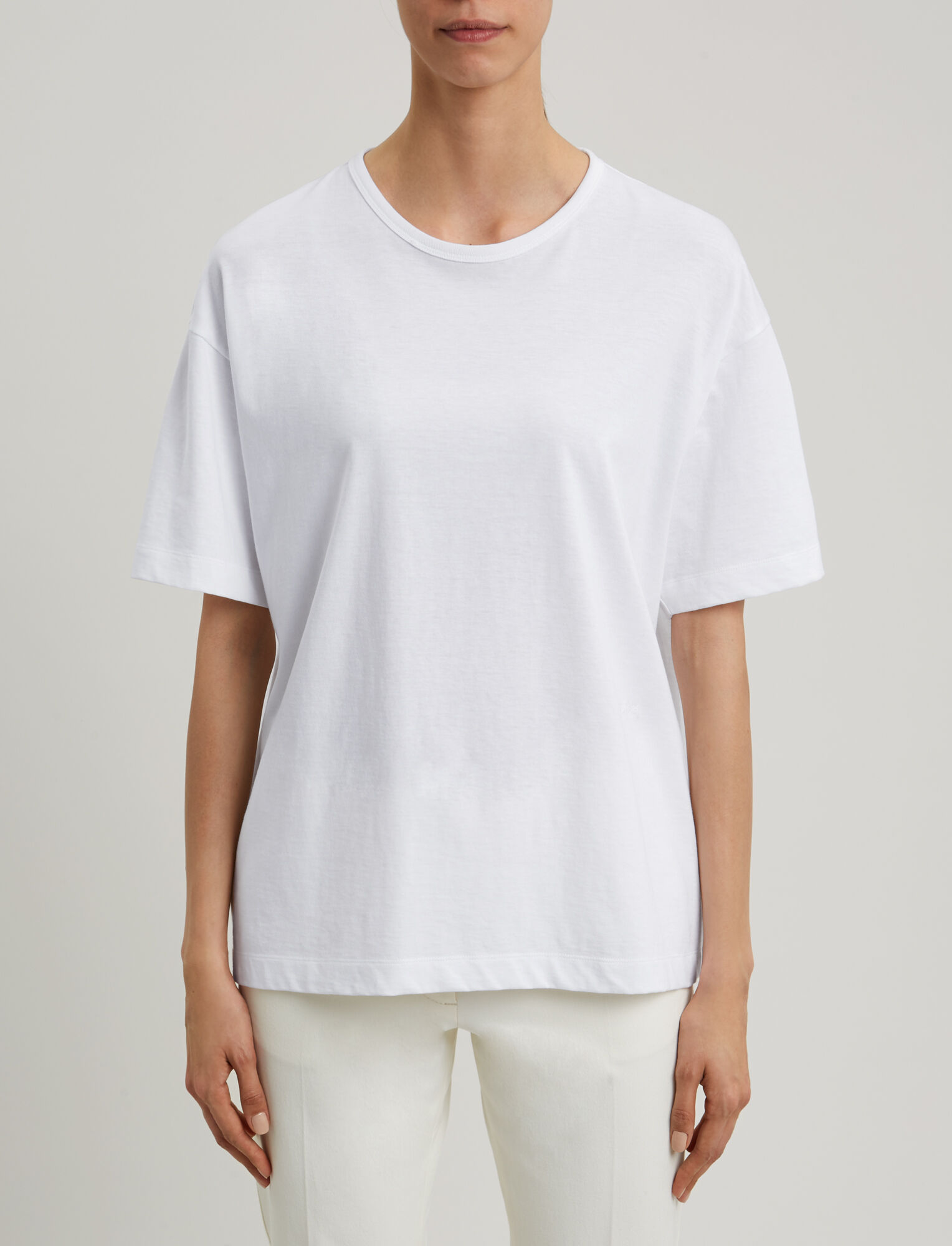 Joseph, Tee-shirt Perfect en jersey, in WHITE