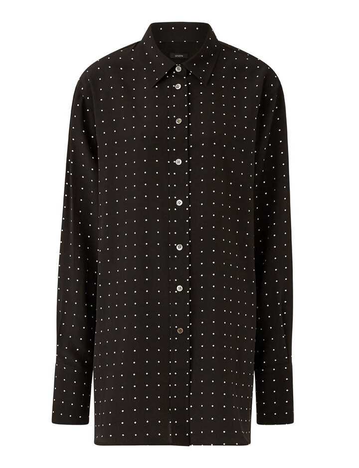 Joseph, Brooks-Silk Polkadot, in BLACK/IVORY