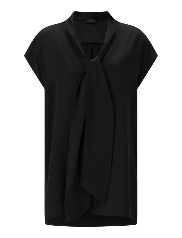 Joseph, Nancy-Silk Satin, in BLACK
