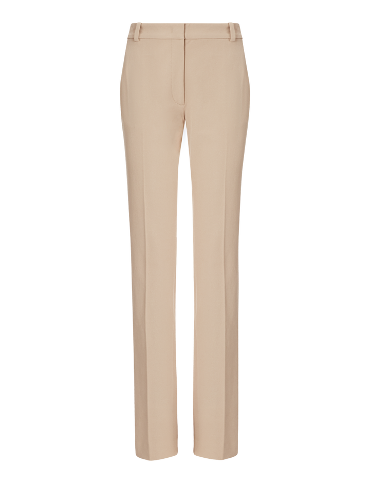 Joseph, Zoran Gabardine Stretch Trousers, in PEBBLE