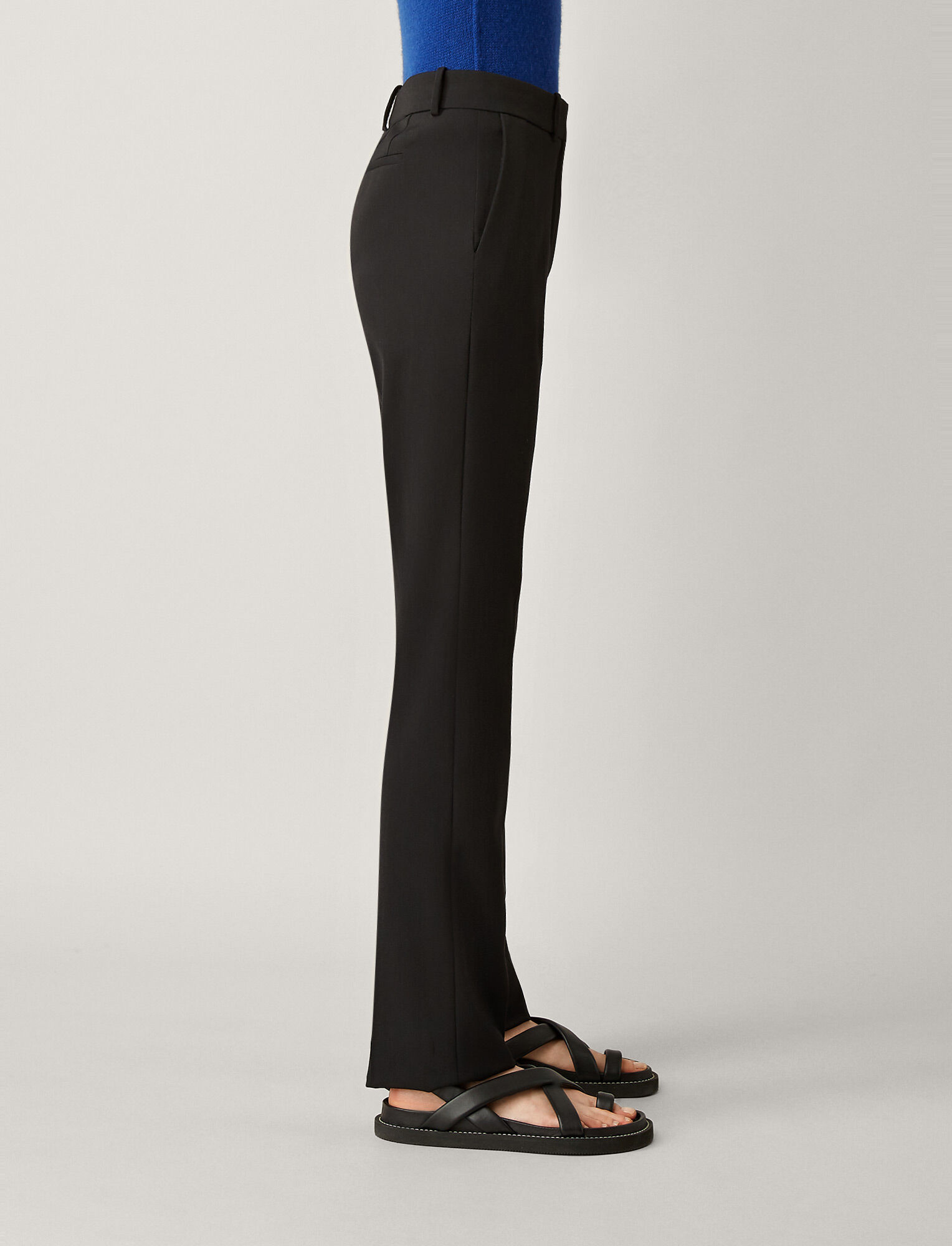 Joseph, Cole Comfort Wool Trousers, in BLACK